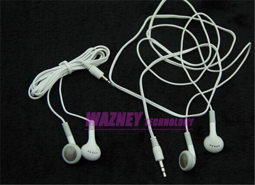Cheapest Gift 3.5mm Stereo in ear Earphone Headset For iPod iPhone Mp3, MP4 cd Player