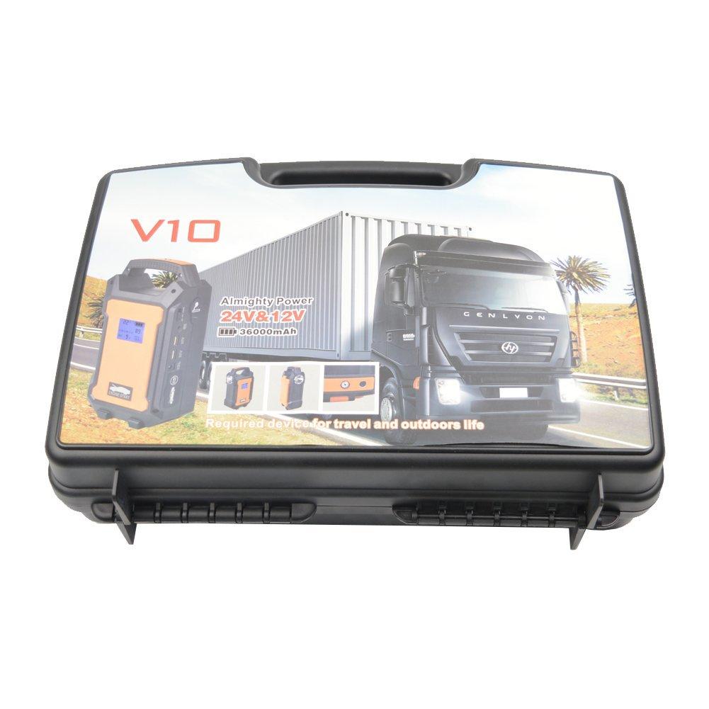 Lanpu Multi-Functional 36000mAh Portable Car Jump Starter Emergency Battery Power Bank Charger