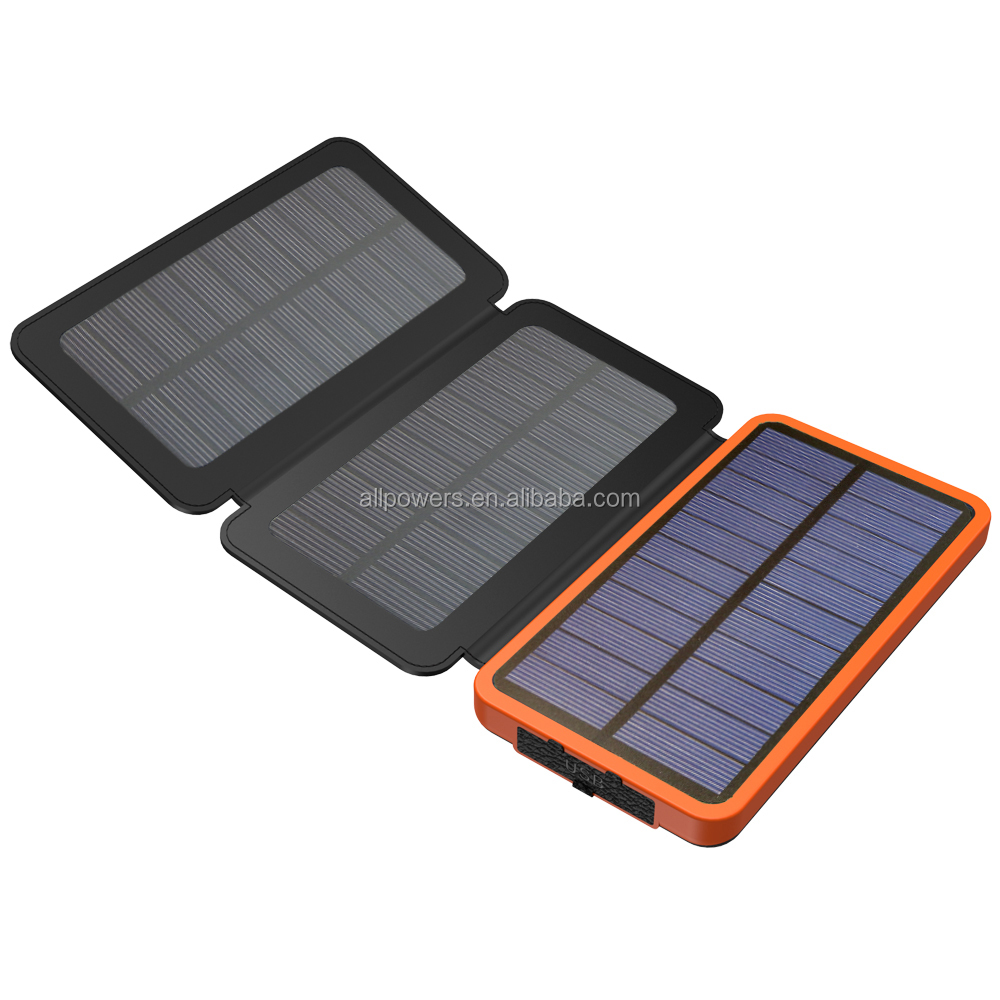 Newest <strong>Solar</strong> Charger 10000mAh Dual 5V USB Output 3 Pieces Mono <strong>Solar</strong> Panel Real Powered by <strong>Solar</strong>