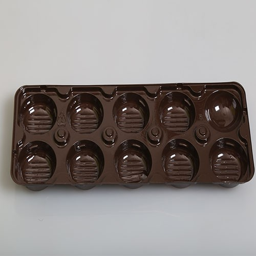 plastic cavity display tray chocolate