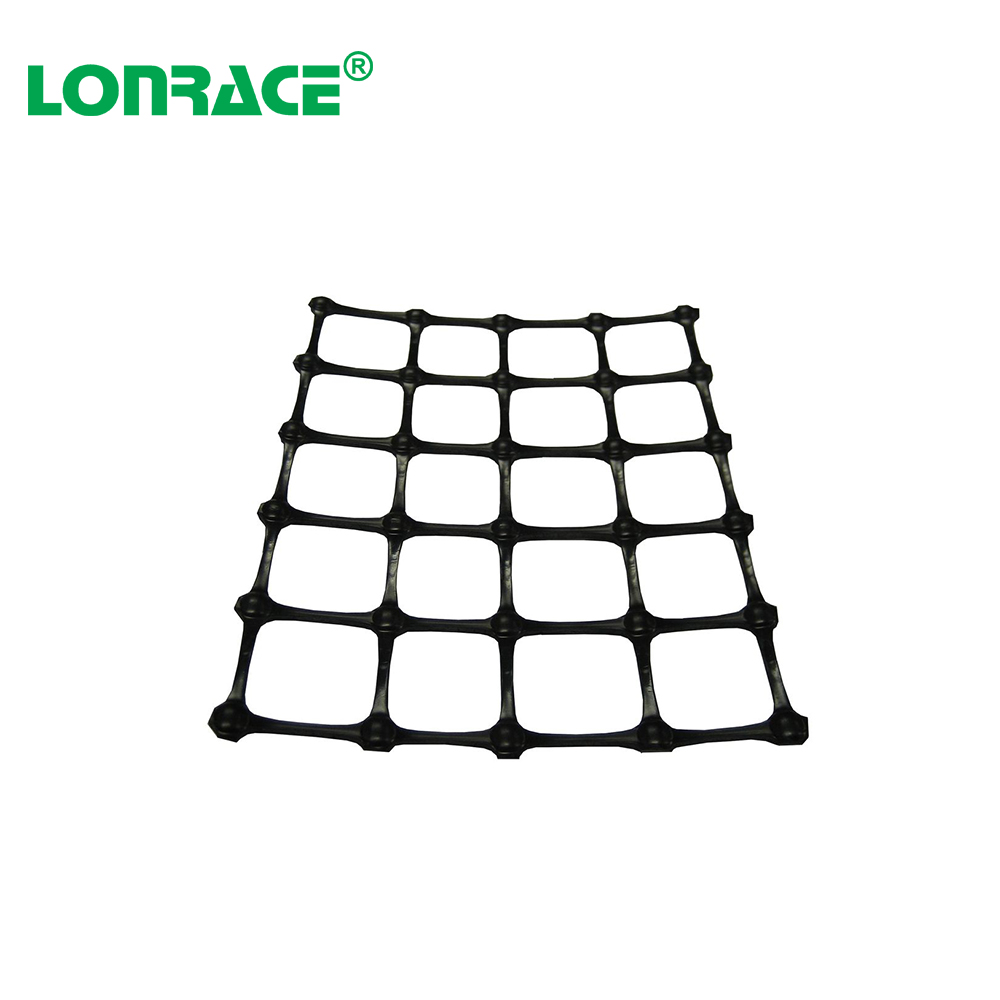 biaxial plastic geogrid for soil retainer