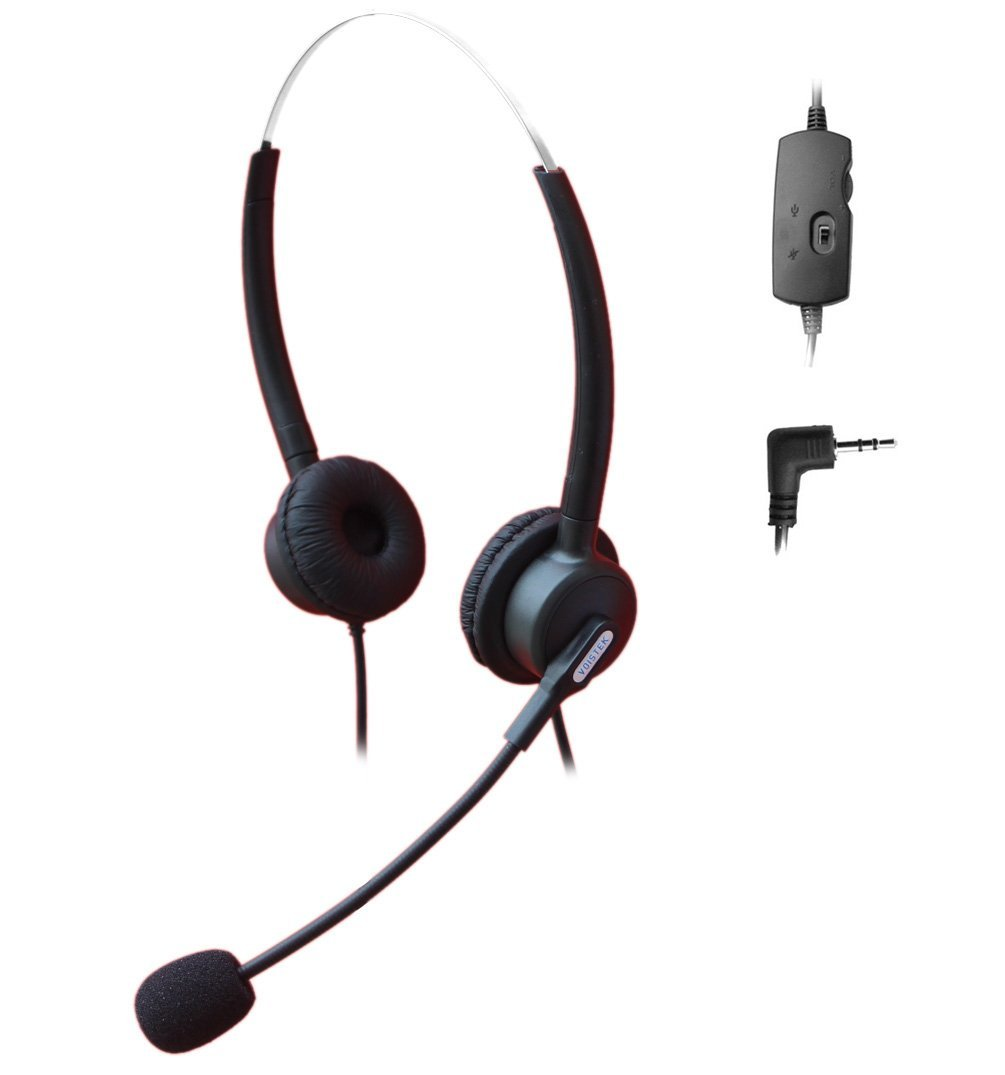 Buy Comdio 2 5mm Call Center Telephone Headset Headphone With Mic Volume Mute Controls For Siemens Gigaset 4010 Micro C620a C380 3020 Panasonic Ip And Cordless Phones With 2 5mm Headset Jack H203vp13