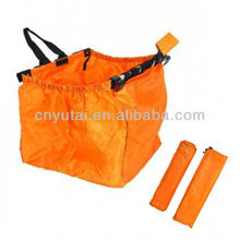 Orange Foldable Shopping Cart Bag into pouch(SCB002)