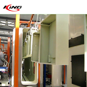 spray painting booth automatic powder coating line