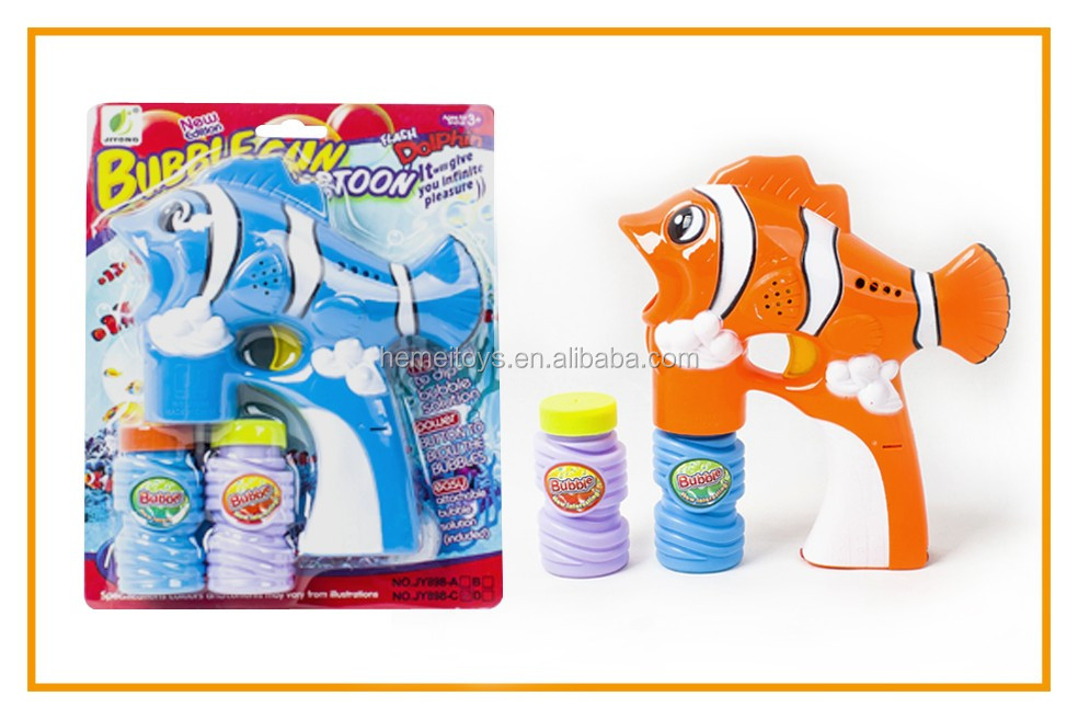 Flash bubble gun clownfish toys with music