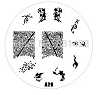 2015 new A Series A20 Nail Art Polish DIY Stamping Plates Image Templates Nail Stamp Stencil