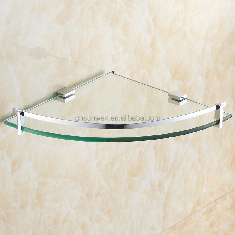 Bagno mensola angolare in vetro bagno mensola a muro ad angolo ripiano in vetro triangolo id - Mensola vetro bagno ...
