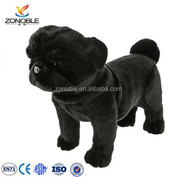 Wholesale High Quality Black Stuffed Animal Dog Toy Plush French