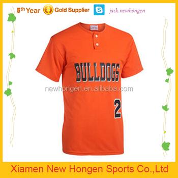 low priced 3c84d aa1b3 Orange Color 2 Buttons Baseball Jerseys,Baseball Uniforms - Buy Full Dye  Sublimation Softball,Baseball Jersey,Sublimation Baseball Jersey Youth ...