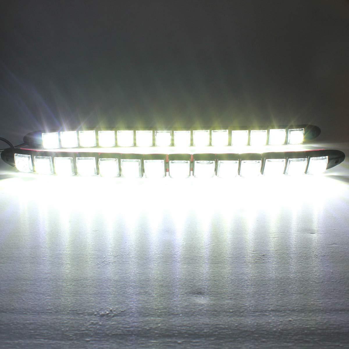 Fincos 6/8/9/12/14/16 LED Super White DRL Daytime Running Light Driving Fog Lamp DC-12V