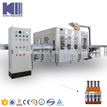 Commercial beer bottling machine glass bottle made in Chian for sale