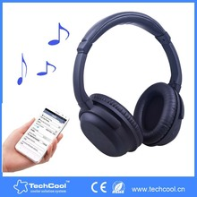 ANC wireless bluetooth headsets 2015 new bluetooth headphone earphones for DJ gaming aviation