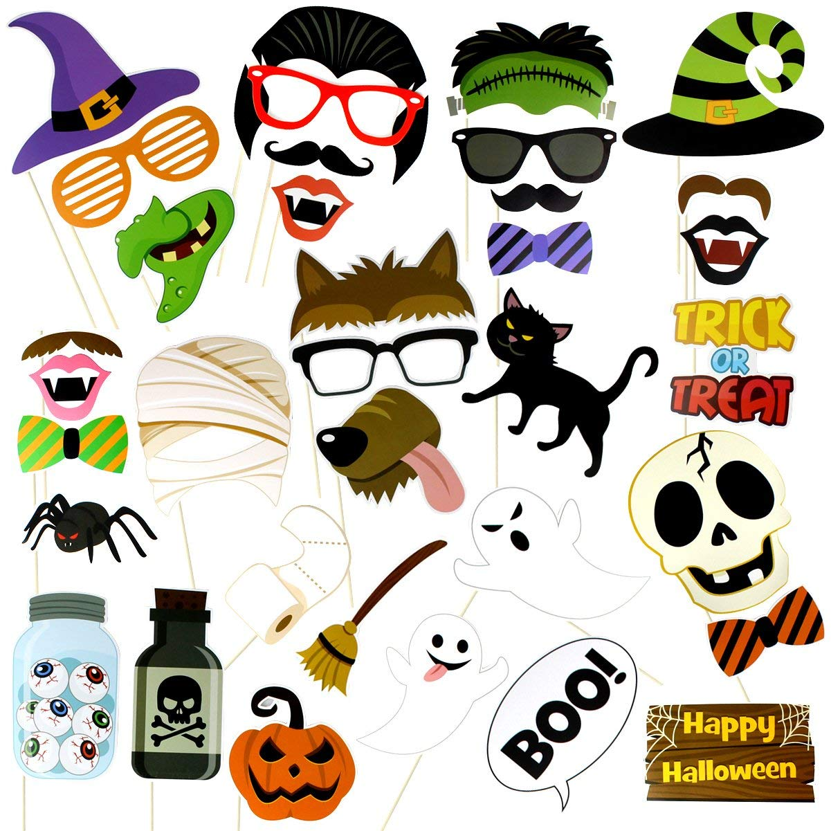 Buy Halloween Masks Halloween Props Photo Cool Funny Booth