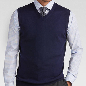 V-Neck Modern uniform Fit Sweater Vest for man pullover clothes