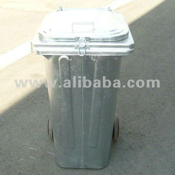 Galvanized Steel Refuse Bins 120 and 240 Litres