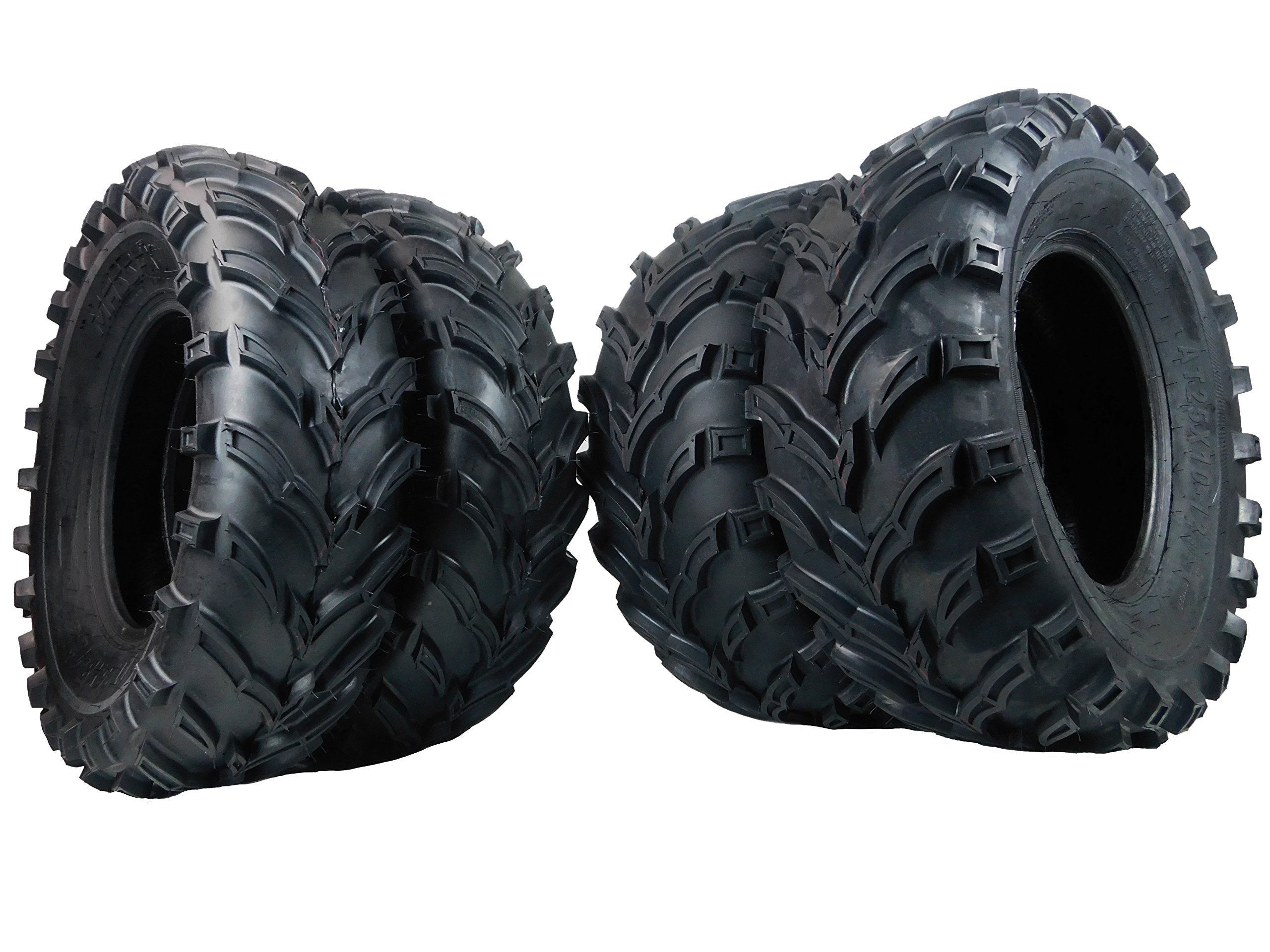 MassFx MS ATV/UTV Tires 25 x 8-12 Front & 25 x 10-12 Rear, Set of 4 25x8x12 25x10x12