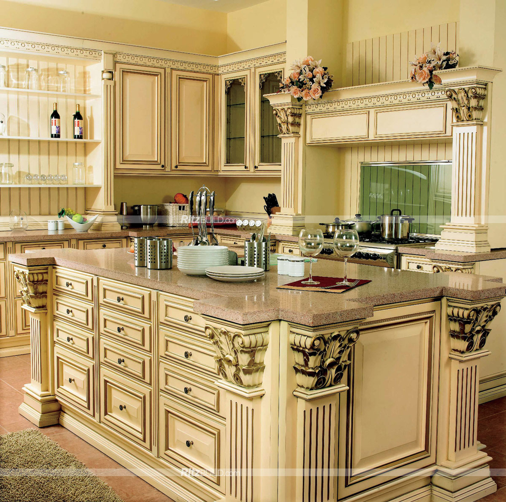 Good Quality Kitchen Cabinets: 2015 High Quality Luxury Wooden Kitchen Cabinet