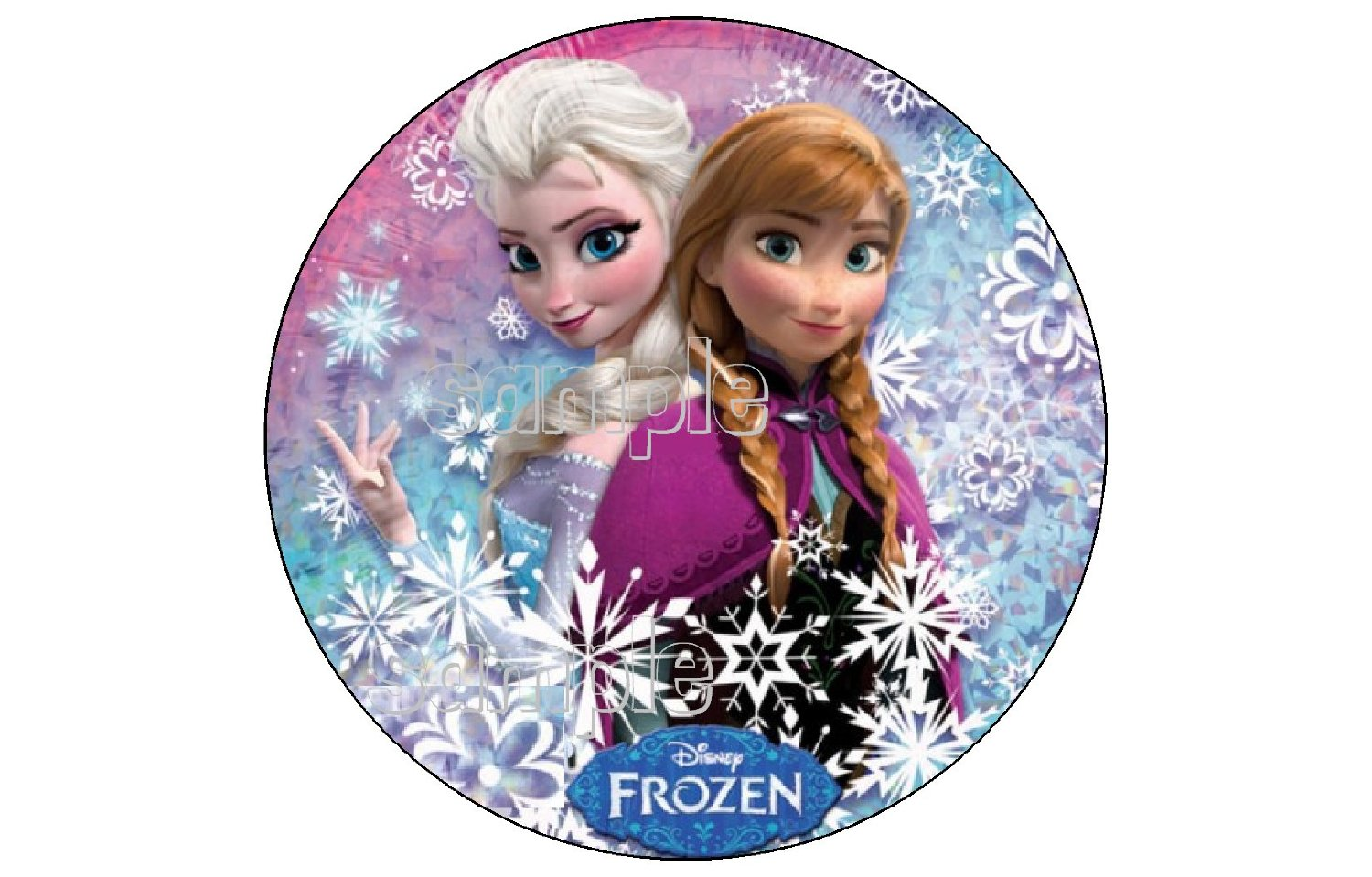 Buy Frozen Anna Elsa Olaf 12ct Edible Image Cupcake