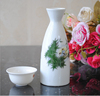 Haonai Japanese style ceramic wine pot 2 pcs of 1 set, ceramic wine set