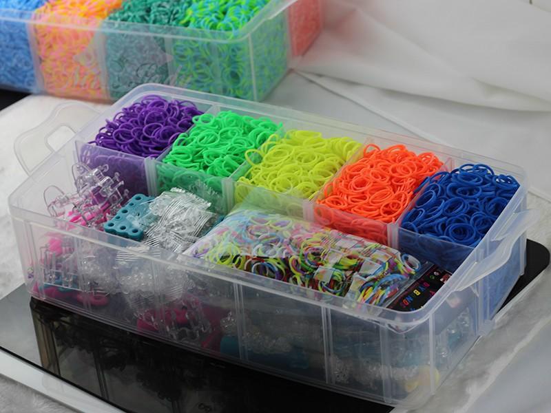 2018 Wholesale Rubber Loom Band Kit Kids Diy Bracelet