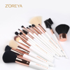 15pcs new products korea style wholesale makeup brush set for wedding gifts