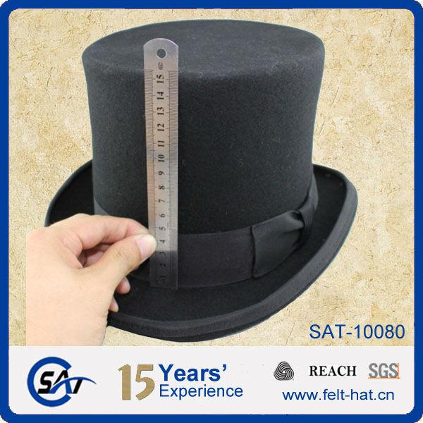 100% Fieltro De Lana Sombrero Negro - Buy Negro Sombreros 77a70ba2914