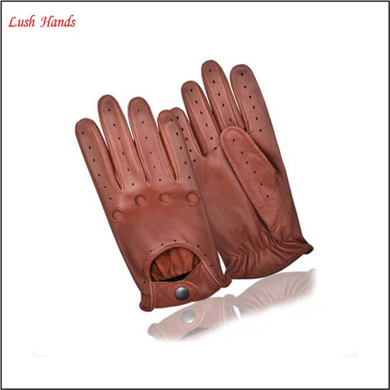 men's leather brown driving gloves leather gloves manufactory