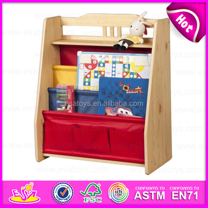 2015 colorful kids wooden bookshelf fashion living room
