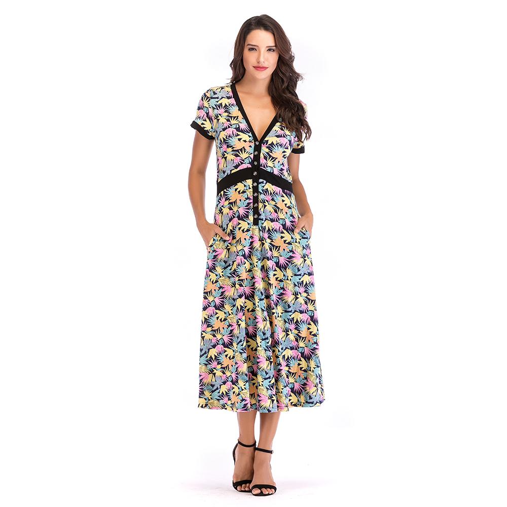 Vestidos casuales con tela de rayon
