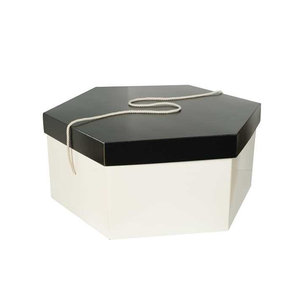 New Design Plain Hexagon Gift Hat Boxes With Lids Custom Made Packaging For Millinery Hat