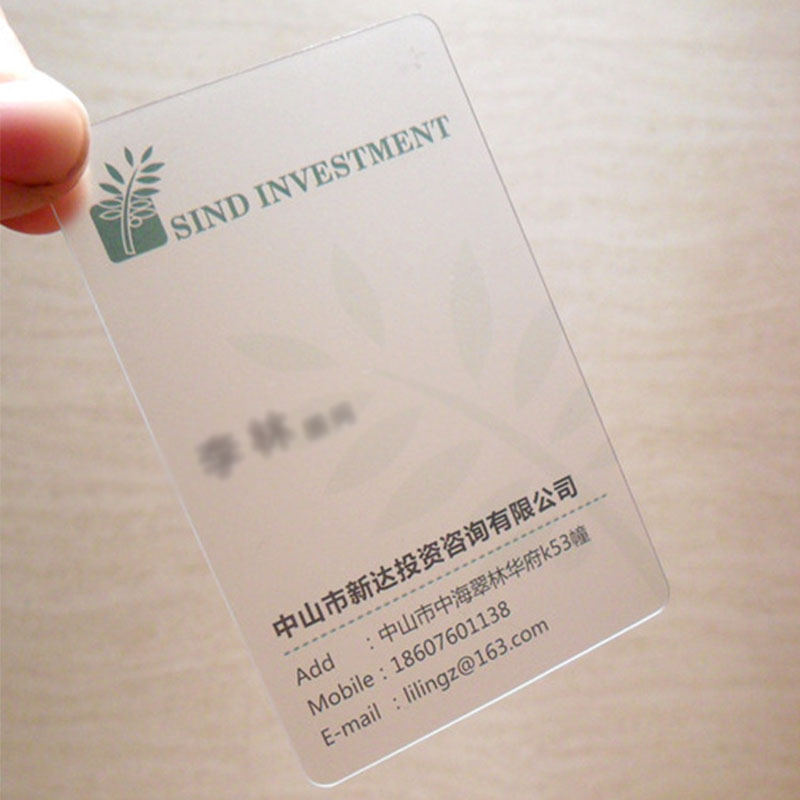 Customized Offset Print Matte Pvc Transparent Business Card - Buy ...