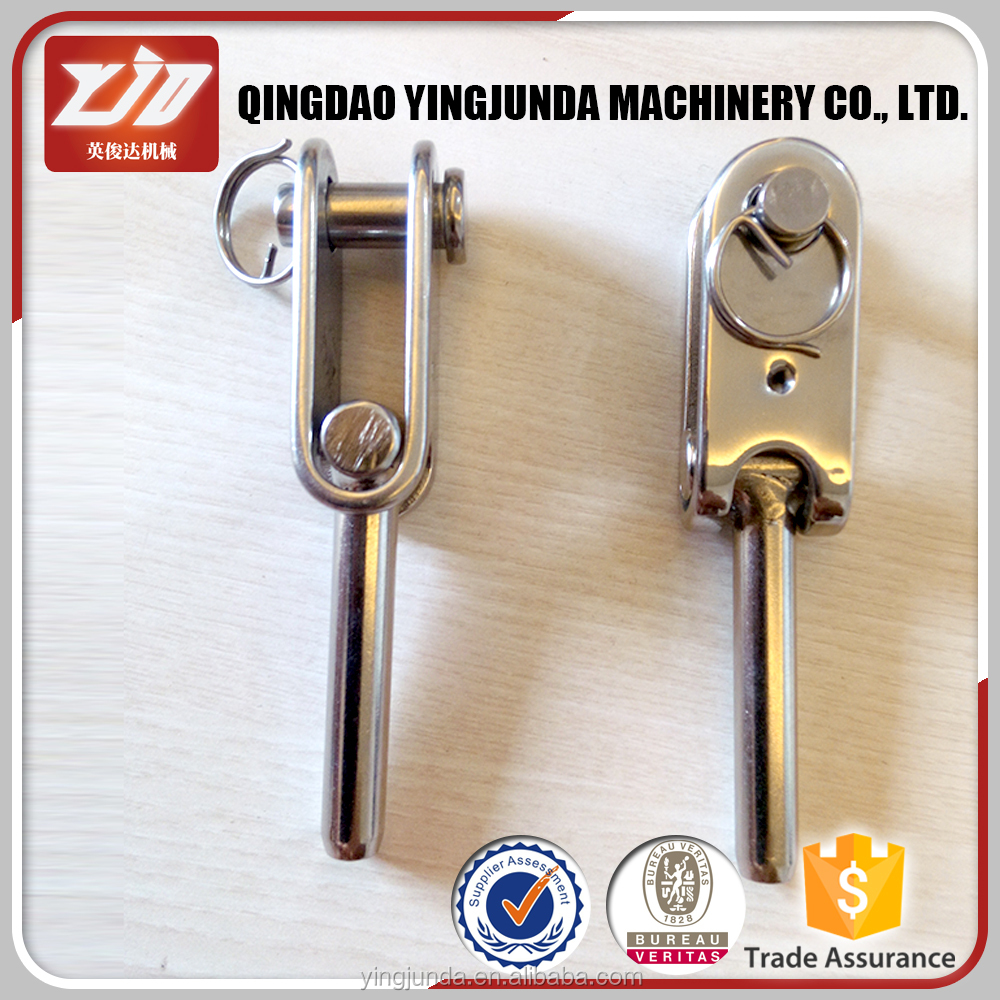 stainless steel jaw swage wire rope terminal