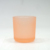 8oz translucent frosted glass candle jar custom color gray amber glass candle holder