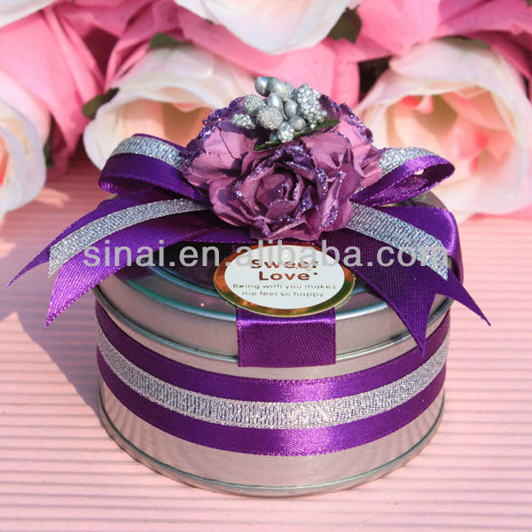 Candy box Wedding favors / gifts Packaging/Round Shape Tin Boxes