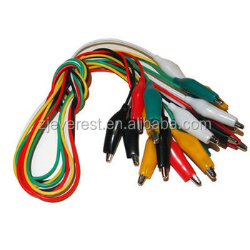 Alligator Clip Electrical Test Leads Package Of Ten 22 Gauge Leads ...