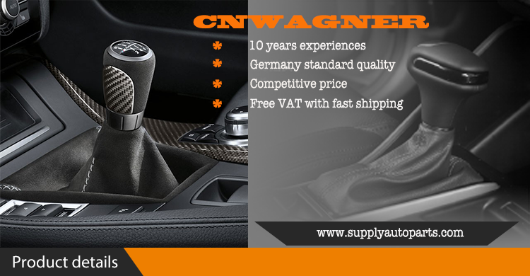 CNWAGNER 6 Speed Leather Gear Shift Knob for Audi A4 S4 B8 8K A5 8T Q5 8R S Line 07-15