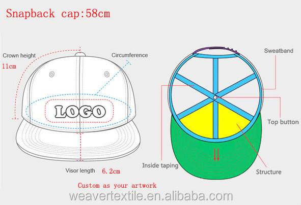 Design Your Own 6 Panel Acrylic Embroidery Snapback Cap   Custom Snapback  Cap Wholesale 23566ea1ec1