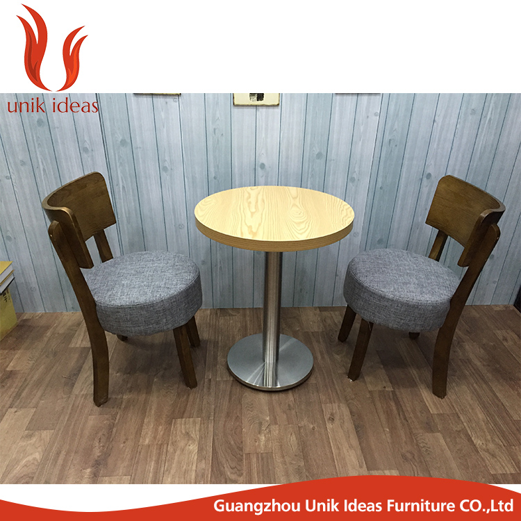 Modern cheap wholesale modern home coffee shop cafe table chair set stacking restaurant used wooden dining chair
