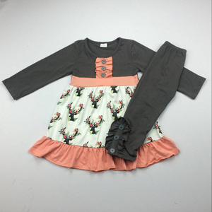 wholesale children clothing manufacturers china fall knit boutique dresses  children Christmas outfits