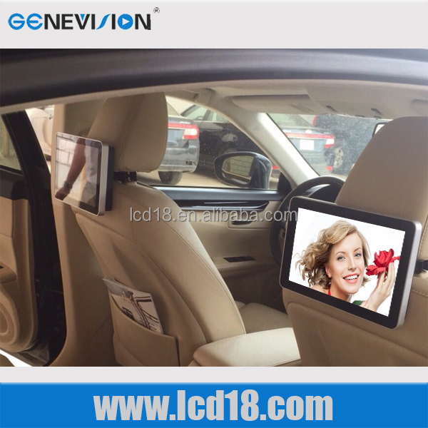10.1 inch with 2-10 point multi touch 3G Wifi <strong>Android</strong> taxi headrest <strong>tv</strong> advertising