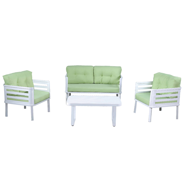 Attrayant Fashion Designs Multi Use Patio Garden Furniture White Aluminum Outdoor  Table And Chairs Single/double Sofa Set With Cushions