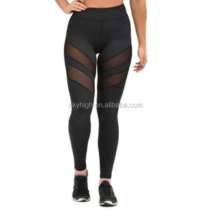 High Waist Stretched Women mesh pants for Fitness Workout Wear and yoga wear