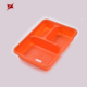 Newest lunch box 3 compartment blister pp packing tray