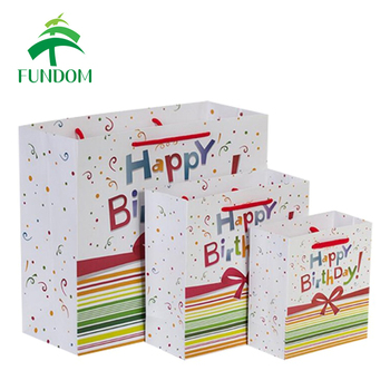 Wholesale Large Midium Small Universal Colorful Happy Birthday Gift Bag