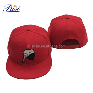 23b53a586673d Custom Made Embroidered Pattern Red Acrylic Fabric Snapback Caps Hats for  Men