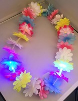 LED Light Up Flashing Hawaiian flower leis