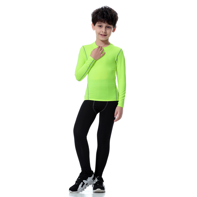 Boy Sports Running Stretch Pants Compression Football Leggings