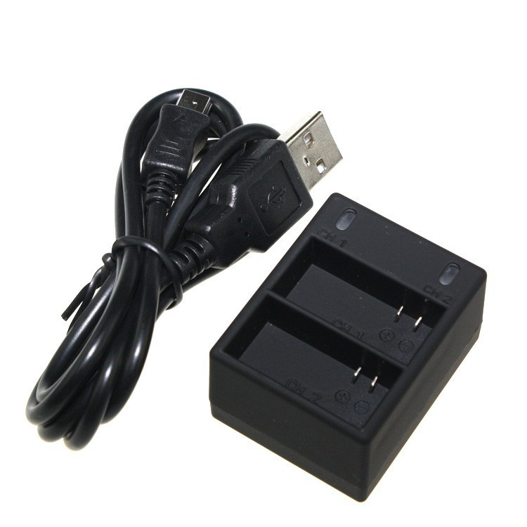 Multi-Input-Dual-Charging Dual 2 Battery USB Charger For GoPro Hero3+/3 Gopro Accessories Charge 2 Battery at Same Time