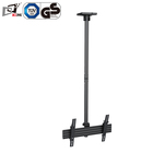 Powder Black Finishing LCD Retractable Ceiling TV Mount With Extension Pipes