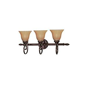 """Nuvo Lighting 60/2413 Copper Bronze Three Light Reversible Lighting 25"""" Wide -MP#GH4498 349Y49HBRG977563"""